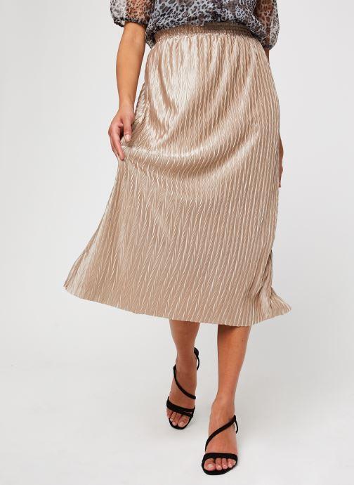 Vêtements Vila Vipleasa Hw Midi Skirt Beige vue détail/paire