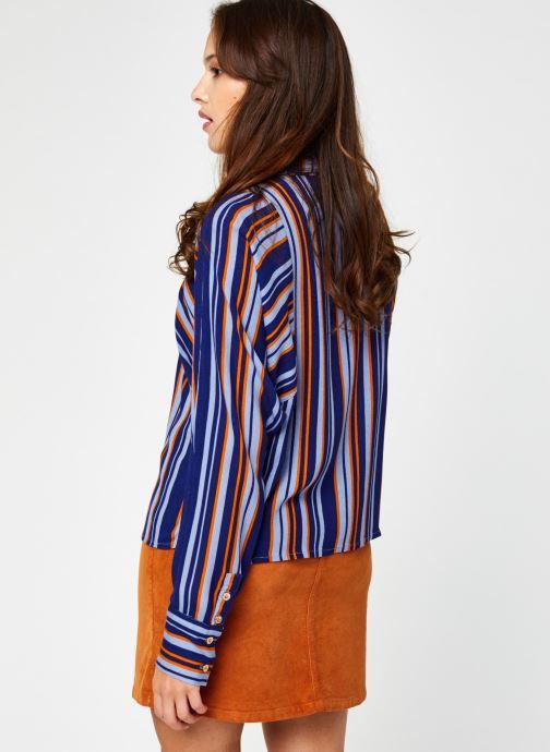 Vêtements Vila Vizita Rayu Shirt Bleu vue portées chaussures