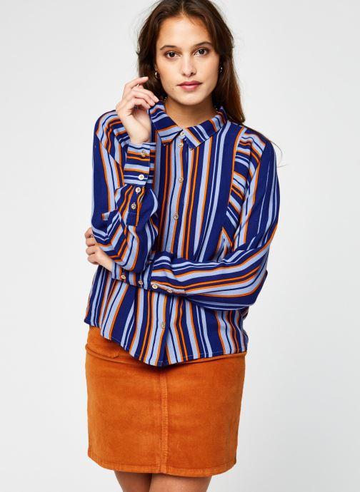 Vêtements Vila Vizita Rayu Shirt Bleu vue droite