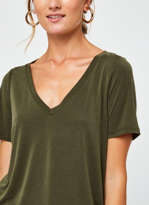 Vêtements Vila Vimodala V-Neck T-Shirt Vert vue face