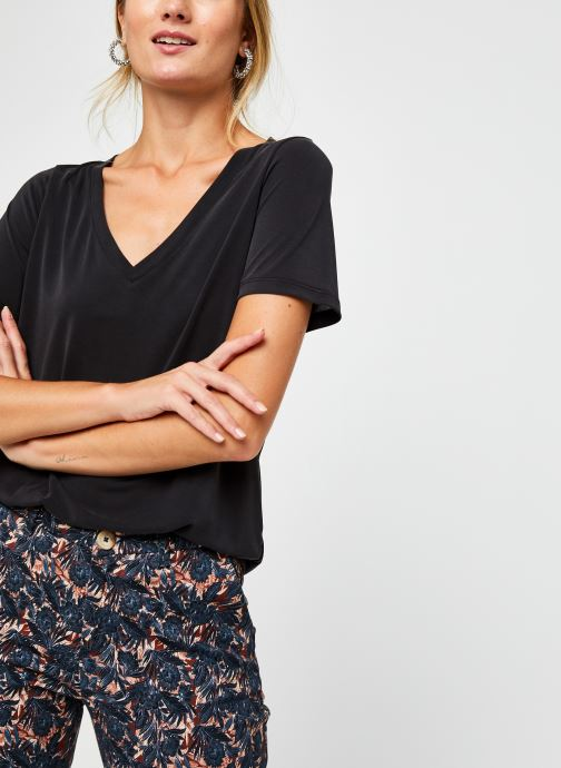 Vêtements Vila Vimodala V-Neck T-Shirt Noir vue détail/paire
