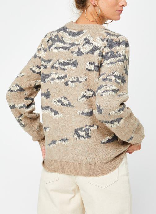 Vêtements Vila Vilidsi Knit Glitter O-Neck Top Beige vue portées chaussures