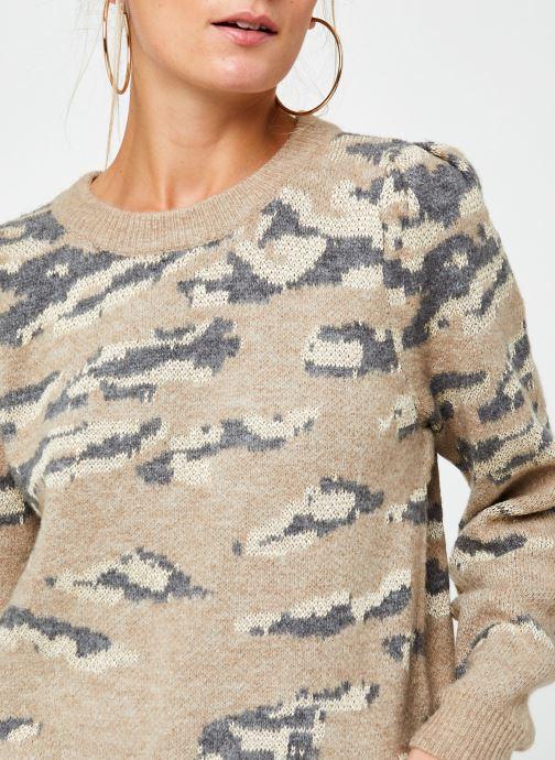 Vêtements Vila Vilidsi Knit Glitter O-Neck Top Beige vue face