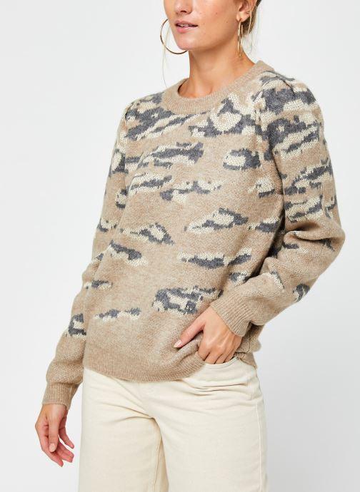 Vêtements Vila Vilidsi Knit Glitter O-Neck Top Beige vue droite