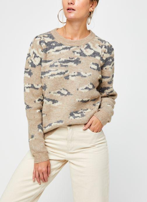 Vêtements Vila Vilidsi Knit Glitter O-Neck Top Beige vue détail/paire