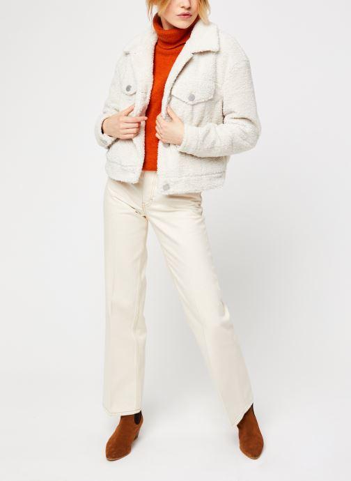 Vêtements Vila Viabbi Short Teddy Jacket Blanc vue bas / vue portée sac