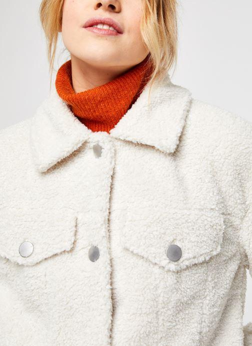 Vêtements Vila Viabbi Short Teddy Jacket Blanc vue face