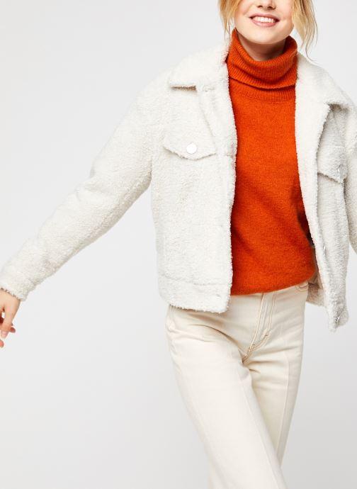 Vêtements Vila Viabbi Short Teddy Jacket Blanc vue détail/paire