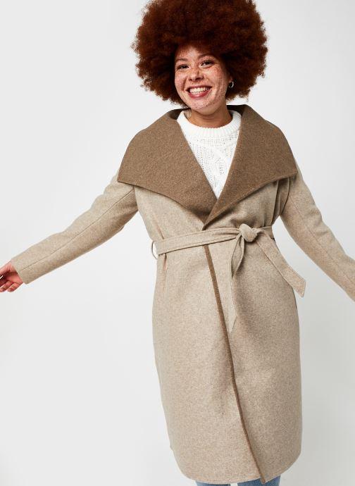 Vêtements Vila Vibias Coat Beige vue détail/paire