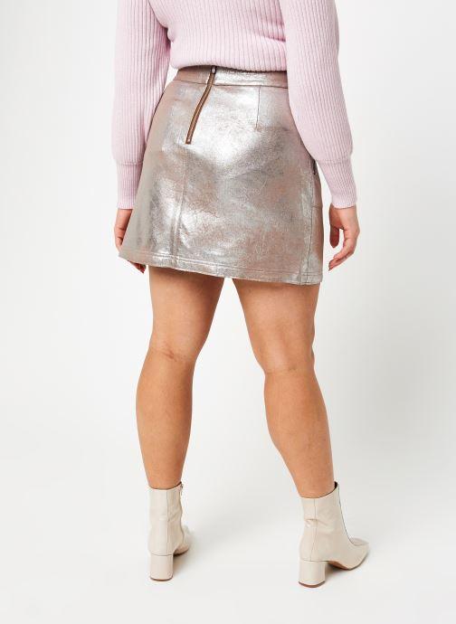 Vêtements Vila Vimallies Short Foil Skirt Argent vue portées chaussures