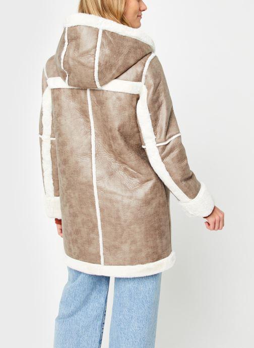 Kleding Vila Vimelba Faux Fur Shearling Hood Jacket Bruin model