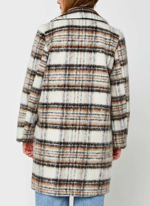Kleding Vila Virooma Wool Coat Wit model