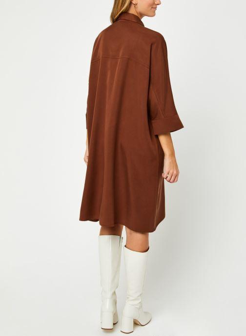 Kleding Vila Vifloria Sleeve Shirt Bruin model