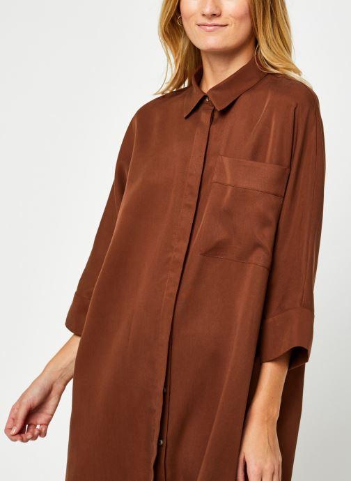 Kleding Vila Vifloria Sleeve Shirt Bruin voorkant