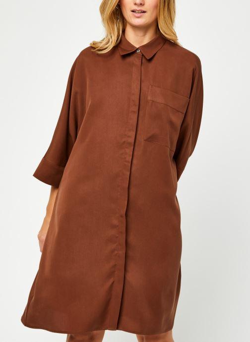 Kleding Vila Vifloria Sleeve Shirt Bruin rechts