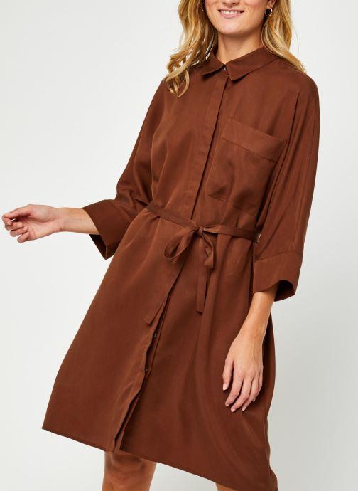 Kleding Vila Vifloria Sleeve Shirt Bruin detail