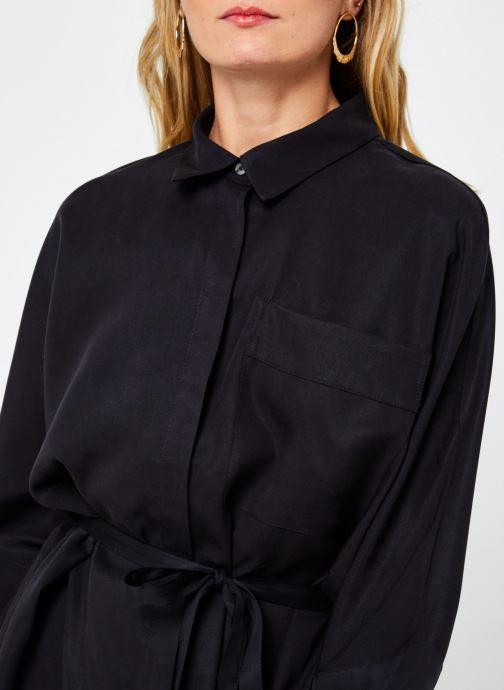 Kleding Vila Vifloria Sleeve Shirt Zwart voorkant