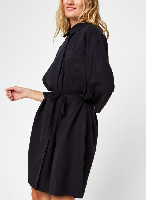 Kleding Vila Vifloria Sleeve Shirt Zwart detail
