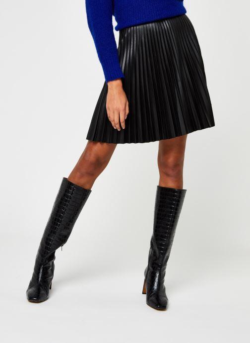 Vêtements Vila Viaminna Pleated Short Coated Skirt Noir vue détail/paire