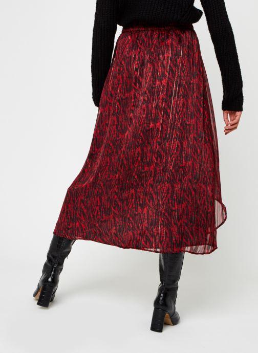 Vêtements Vila Virana Ancle Skirt Rouge vue portées chaussures