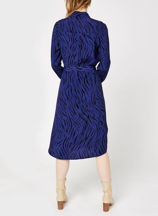 Kleding Vila Visimozebba Midi Shirt Dress Blauw model