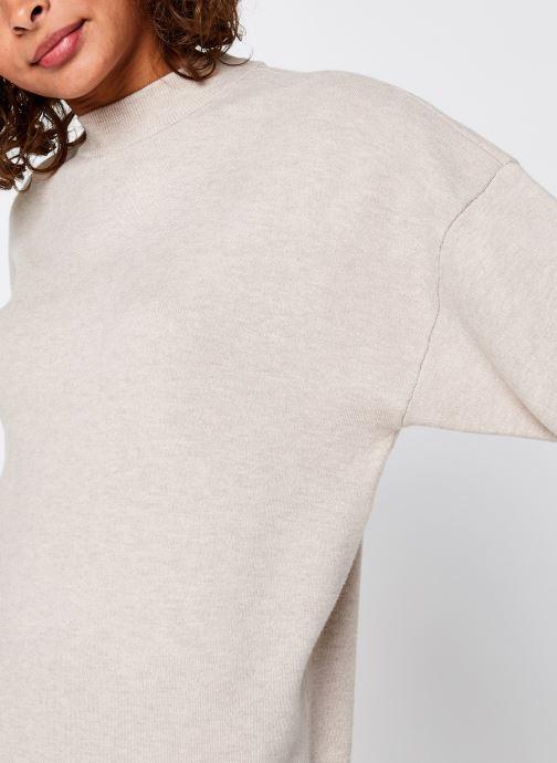 Vêtements Vila Violivinja Knit High Neck Dress Beige vue face