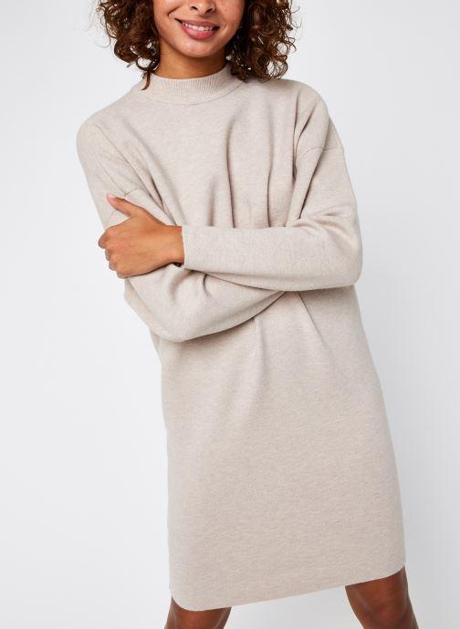Vêtements Vila Violivinja Knit High Neck Dress Beige vue droite