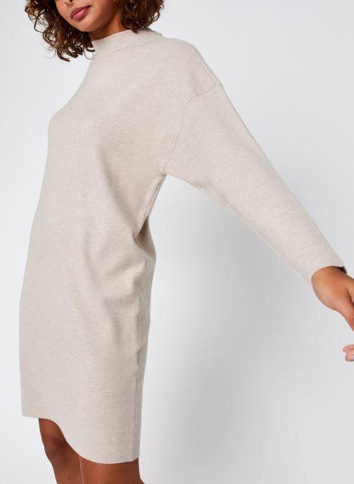 Vêtements Vila Violivinja Knit High Neck Dress Beige vue détail/paire
