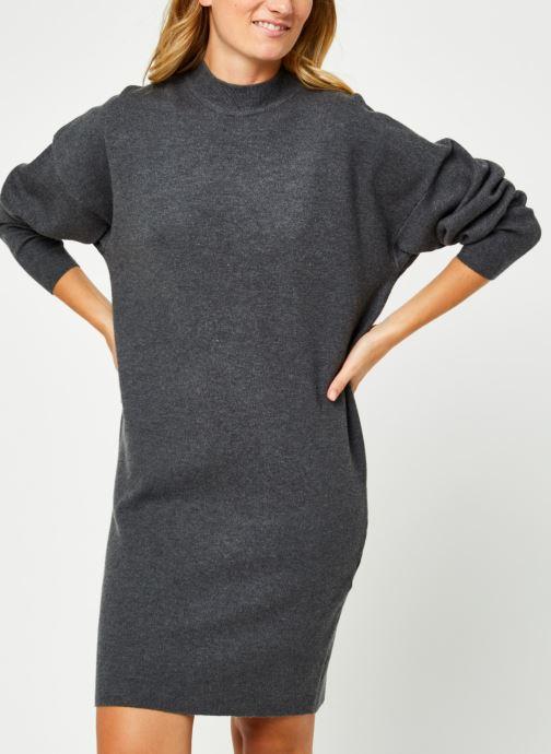 Vêtements Vila Violivinja Knit High Neck Dress Gris vue détail/paire