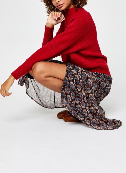 Kleding Vila Vipalermo Knit Zipper Top Rood onder