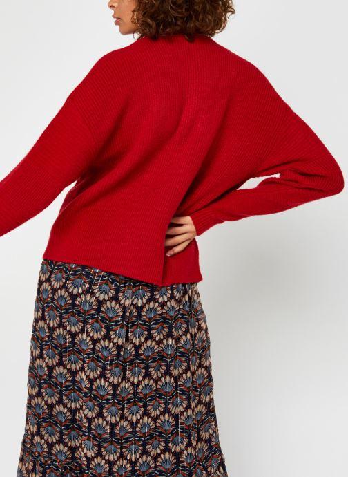 Kleding Vila Vipalermo Knit Zipper Top Rood model