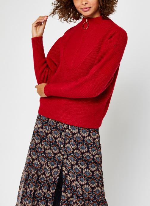 Kleding Vila Vipalermo Knit Zipper Top Rood rechts