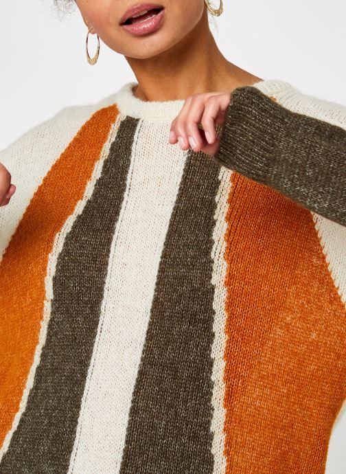 Kleding Vila Vigood Knit Pattern Top Beige voorkant