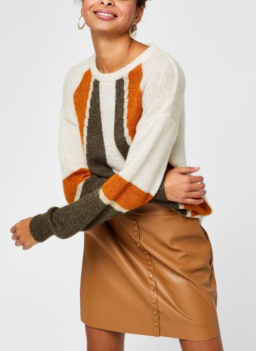 Kleding Vila Vigood Knit Pattern Top Beige detail