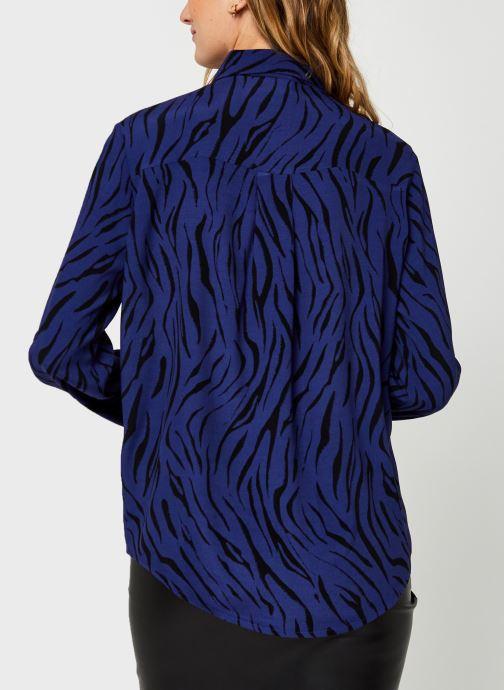 Vêtements Vila Visimozebba Shirt Bleu vue portées chaussures