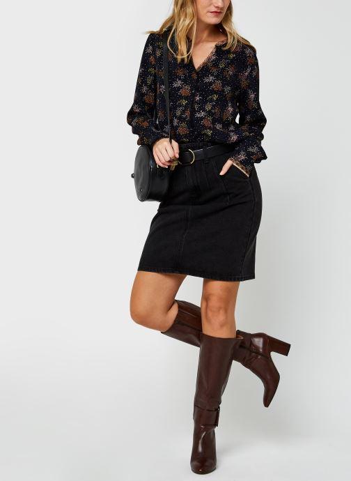 Vêtements Vila Viborine Lace Shirt Nattin Noir vue bas / vue portée sac
