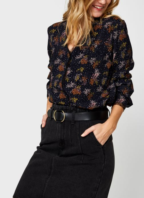 Vêtements Vila Viborine Lace Shirt Nattin Noir vue détail/paire