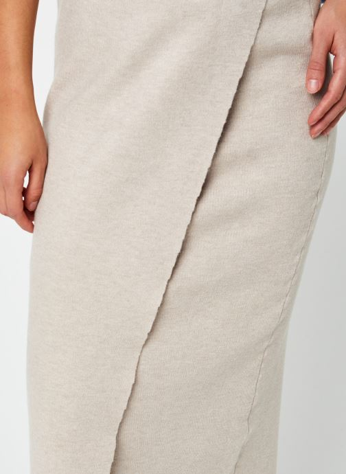 Vêtements Vila Violivinja Knit Midi Wrap Skirt Beige vue face