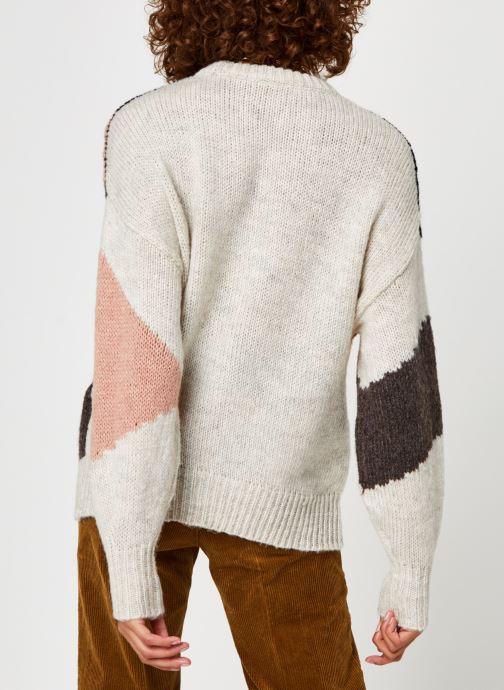Kleding Vila Vielro Knit O-Neck Top Beige model