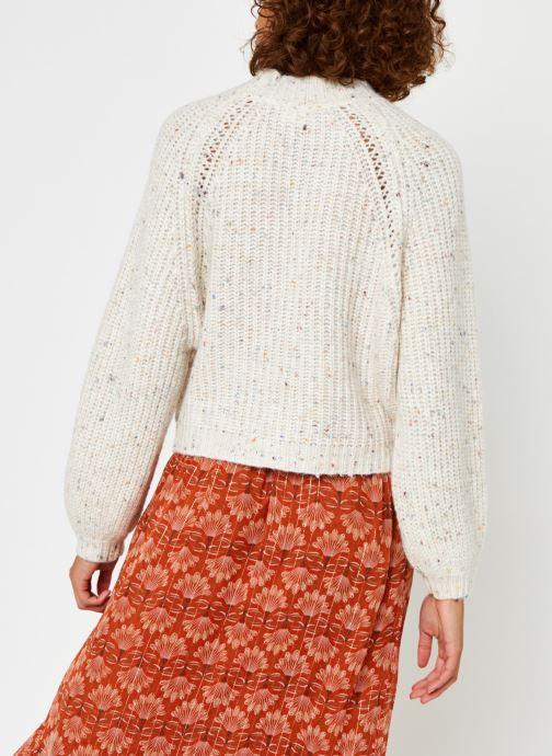 Kleding Vila Vilevia Knit Crewneck Top Beige model