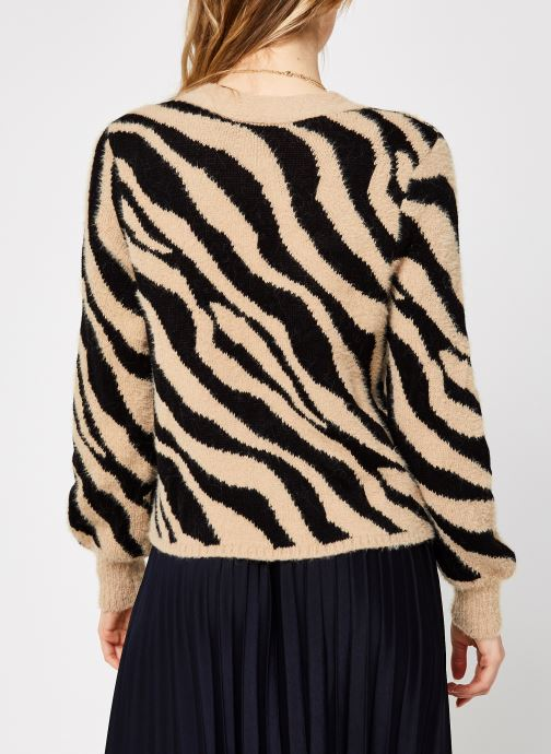 Kleding Vila Vifeami Knit Animal Cardigan Zwart model