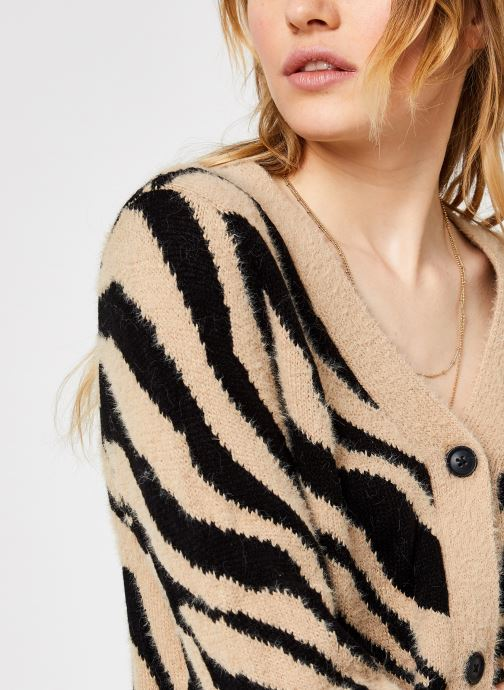 Vêtements Vila Vifeami Knit Animal Cardigan Noir vue face