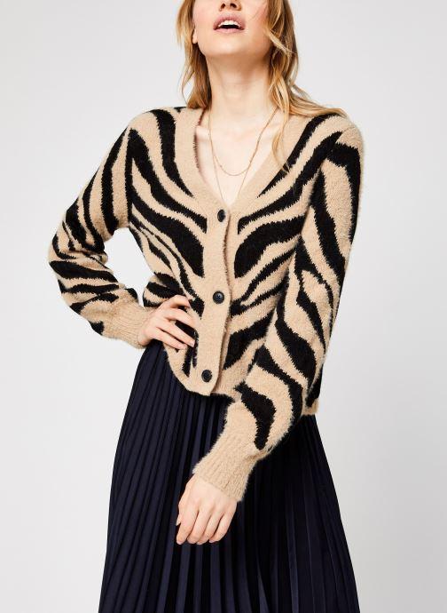 Vêtements Vila Vifeami Knit Animal Cardigan Noir vue droite