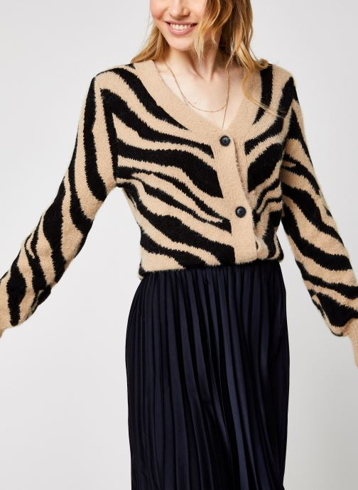Vêtements Vila Vifeami Knit Animal Cardigan Noir vue détail/paire