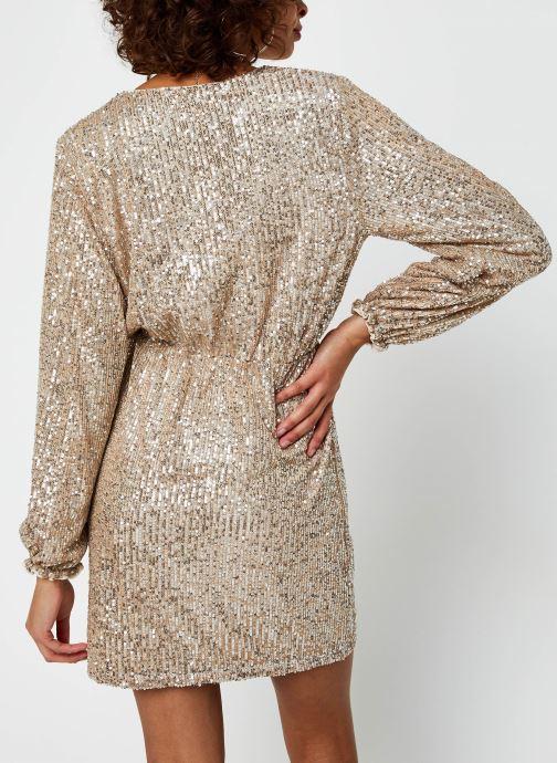 Vêtements Vila Vilyc Short Dress Or et bronze vue portées chaussures
