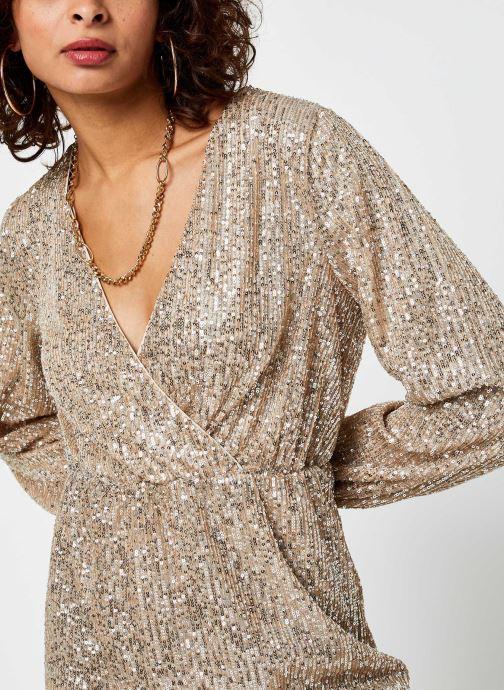 Vêtements Vila Vilyc Short Dress Or et bronze vue face
