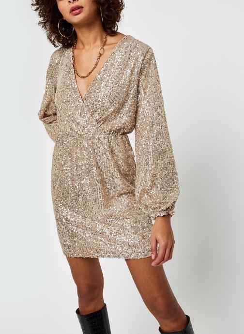 Vêtements Vila Vilyc Short Dress Or et bronze vue droite