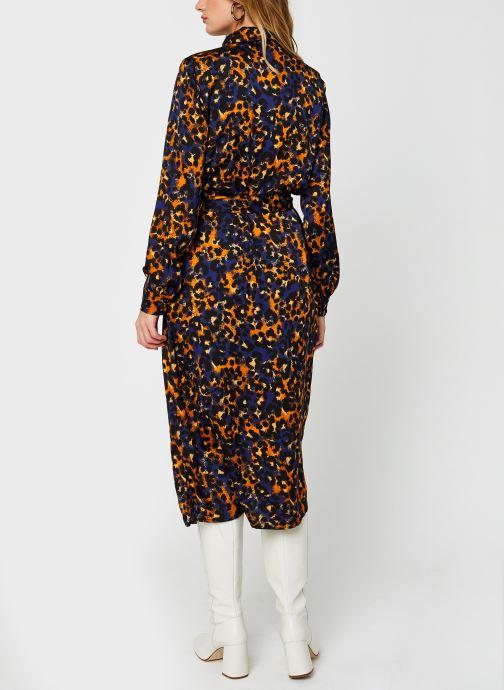 Vêtements Vila Vijolie Lenona Shirt Dress Bleu vue portées chaussures