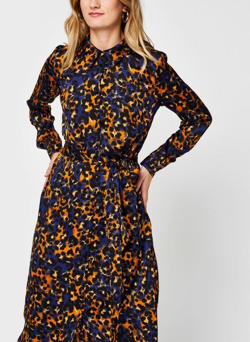 Vêtements Vila Vijolie Lenona Shirt Dress Bleu vue droite
