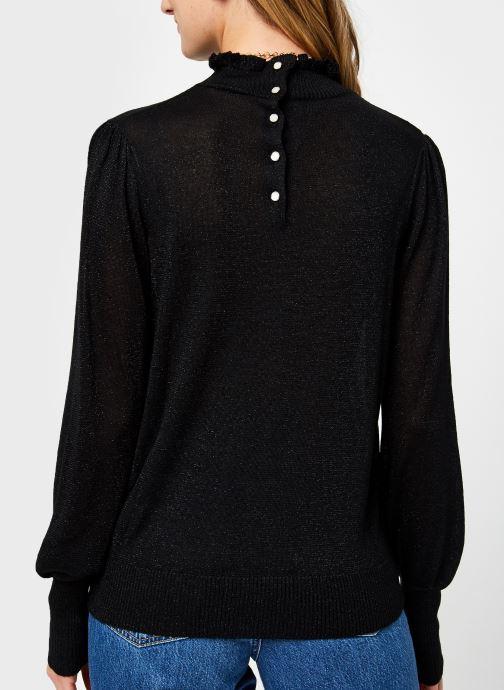 Vêtements Vila Vihermine Knit Higneck Top Noir vue portées chaussures